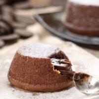 Пирожное Шоколадное суфле фондан Испания