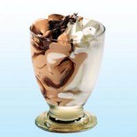 Мороженое сливки шоколад в стекле 6 порций Michielan