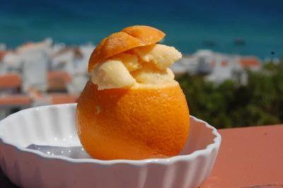 """Мороженое во фруктах """"Апельсин"""" Alacant"""