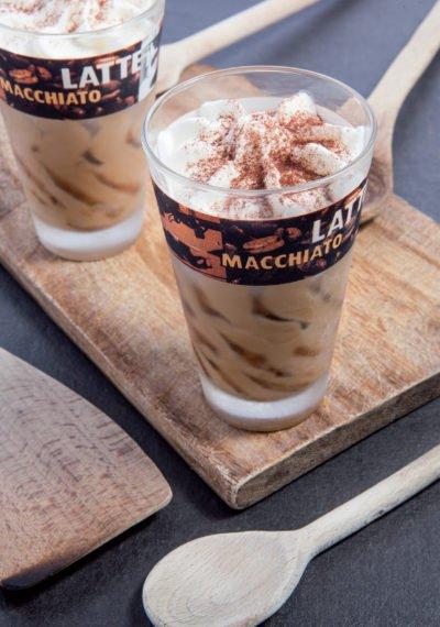 """Мороженое кофе со сливками""""Латте Макиато""""в стеклянном бокале Michielan"""