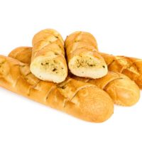 Мини-багет Пшеничный чесночный замороженное хлебобулочное изделие