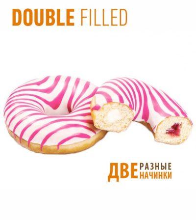 Пончики донатс с начинкой малина и крем-сыр Panna cotta 70гр*36шт